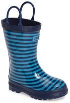 Hatley Stripe Waterproof Rain Boot (Walker, Toddler & Little Kid)
