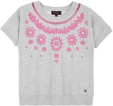 Juicy Couture Girls Fashion Track Embroidered Terry Top