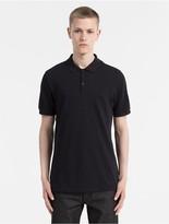 Calvin Klein Jeans Waffle Cotton Long Polo Shirt