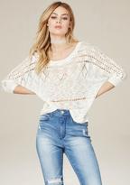 Bebe Slub Knit Dolman Sweater