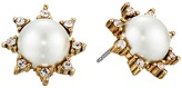 Oscar de la Renta Pearl Filigree Stud P Earrings