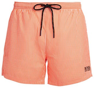 BOSS Seersucker Stripe Swim Shorts