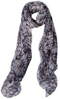 Ashley Ashoff Human Heart Silk Chiffon Scarf