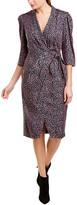 Rebecca Taylor Wild Rose Silk-Blend Wrap Dress