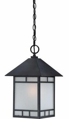 Caitlin 1-Light Outdoor Hanging Lantern Millwood Pines Bulb Type: Compact Fluorescent(CFL)
