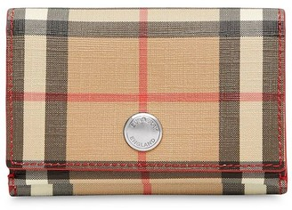 Burberry Small Vintage Check E-canvas Folding Wallet