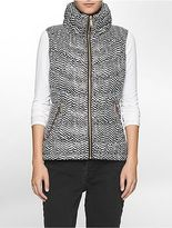 Calvin Klein Womens Animal Puffer Vest Jacket