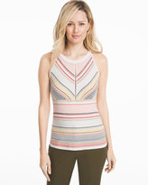 White House Black Market Stripe Sleeveless Sweater