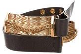 Lanvin Chain-Accented Waist Belt