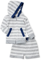 Rene Rofe Newborn Boys) Two-Piece Hoodie & Cuffed Shorts Set