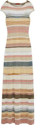 Missoni Metallic Striped Crochet-knit Maxi Dress