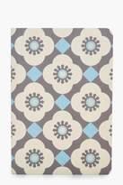boohoo Mediterranean Mosaic Notebook blue