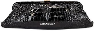 Balenciaga XL Cloud Clutch in Black | FWRD