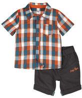 Petit Lem Baby Boys Two-Piece Shirt and Short Set