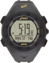 Asics Ag01 Gps Training Unisex Black Strap Watch-Cqag0105y