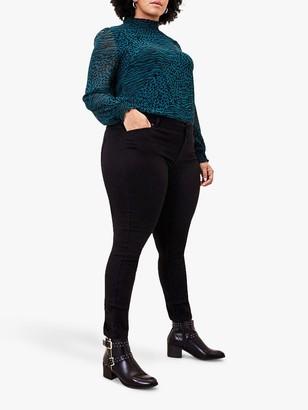 Oasis Curve Jade Stretch Skinny Jeans, Black