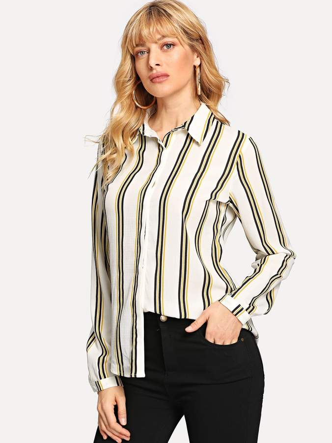 1788c204a2 Women Vertical Striped Tops - ShopStyle