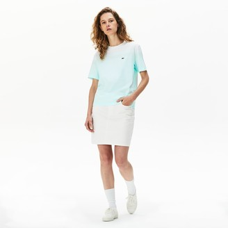 Lacoste Women's Made in France Crew Neck Organic Cotton T-shirt