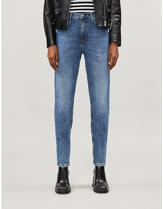Calvin Klein Slim-fit tapered high-rise jeans