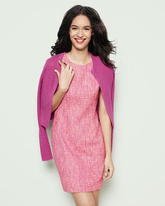 T Tahari Dakota Tweed Dress