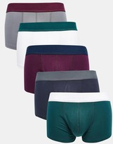 Asos 5 Pack Hipsters In Jewel Colours