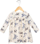 Bonpoint Girls' Floral Print Crew Neck Dress