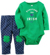 Carter's 2-Piece St. Patrick's Day Bodysuit & Pant Set