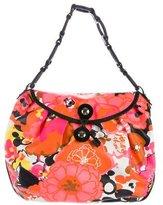 Jimmy Choo Woven Floral Hobo Bag