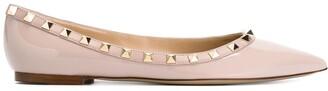 Valentino Rockstud ballerina shoes