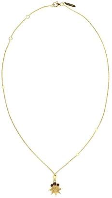 Foundrae 18kt Yellow Gold Garnet Fire Element Choker Necklace