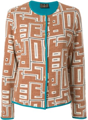 Fendi Pre Owned Graphic Print Cardigan