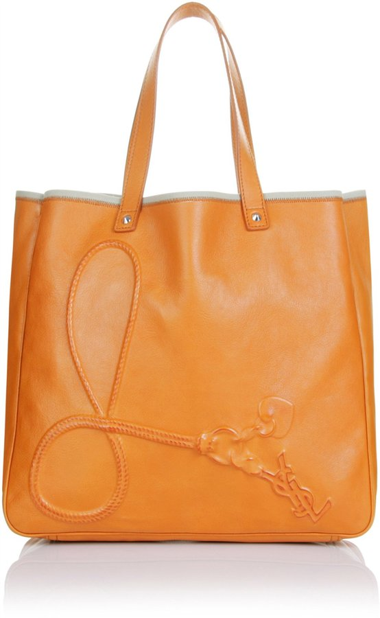 Yves Saint Laurent Charms Leather Tote