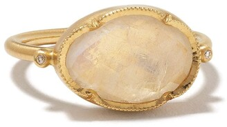 Brooke Gregson 14kt yellow gold Orbit moonstone and diamond ring