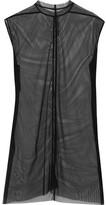 Rick Owens Stretch-mesh Top - Black