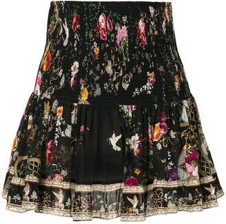 Camilla Embellished Floral-Print Mini Skirt