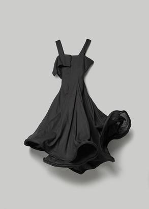 Yohji Yamamoto Women's Cambric Dress With Boning in Black Size 2