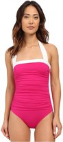 Ralph Lauren by Ralph Women's Ruched Halter One-Piece Swimsuit