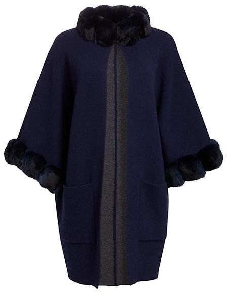 The Fur Salon Cashmere & Dyed Chinchilla Kimono