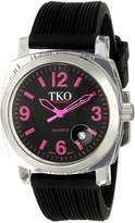 TKO ORLOGI Women's TK549-FB Milano Remixed Fuschia Black Strap Watch