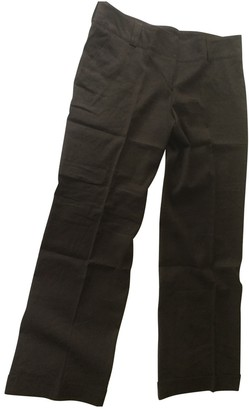 Burberry \N Brown Linen Trousers