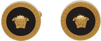 Versace Black and Gold Medusa Icon Cufflinks