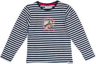 Salt&Pepper Salt and Pepper Girl's Longsleeve Horses Stripes T-Shirt