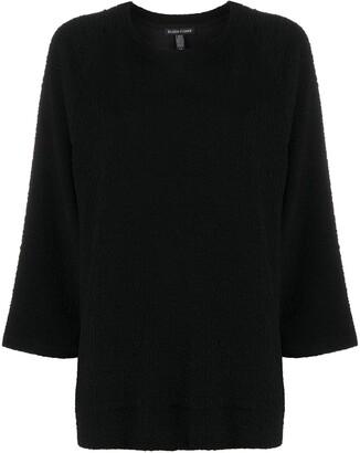 Eileen Fisher Round Neck Matelasse Sweatshirt