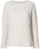 Nili Lotan cable knit sweater - women - Cashmere - M