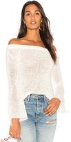 MinkPink Antoinette Off Shoulder Sweater in White