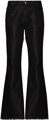 Marques Almeida Coated Bootcut Jeans