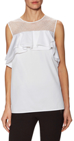 Jason Wu Cotton Sleeveless Ruffle Top