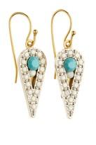 SANDY HYUN Vintage Crystal Drop Earrings