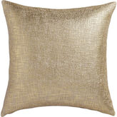 "CB2 Glitterati Gold 23"" Pillow With Feather-Down Insert"