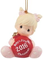 "Precious Moments Baby's First Christmas"" Girl 2016 Christmas Ornament"